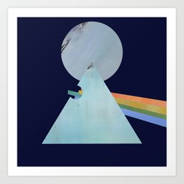 The Moon's Dark Side, prism, rainbow Art Print