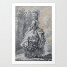 Elisabeth Louise Vigée Le Brun - Marie Antoinette in a Park Art Print
