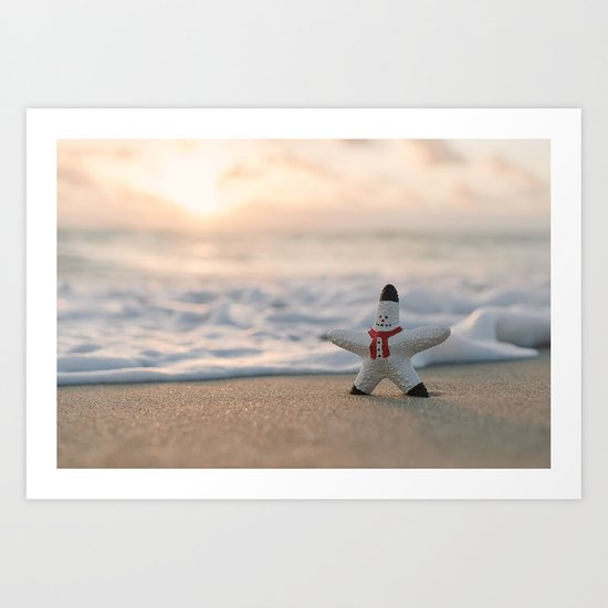 A holiday wish Art Print