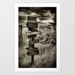 where to go Art Print