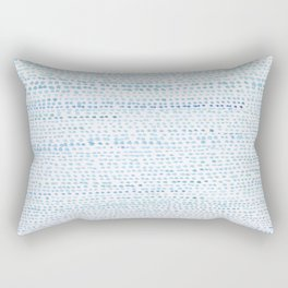 BLUE/GREEN DOTTED PATTERN  Rectangular Pillow