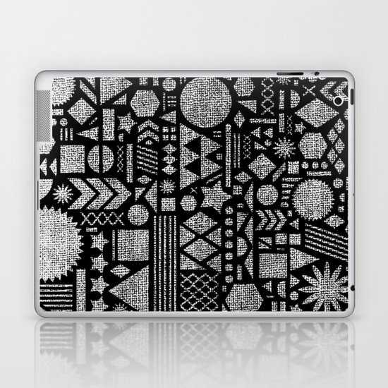 Modern Elements with Black. Laptop & iPad Skin