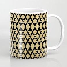 Black and Gold Geometric Pattern 4 Mug