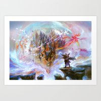 magic the gathering Art Prints featuring Demystify - Magic: The Gathering by vmeignaud