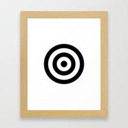 Classic Modern Bullseye Framed Art Print