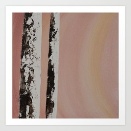 Sunset Birch #1 Art Print