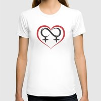lesbian T-shirts featuring Lesbian Love by Dragon Servant