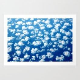 Clouds in the sky pattern Art Print