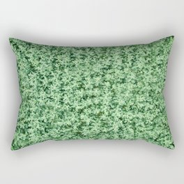 Nature print, Green rapeseed agriculture field Top View. Rapeseed. Rectangular Pillow