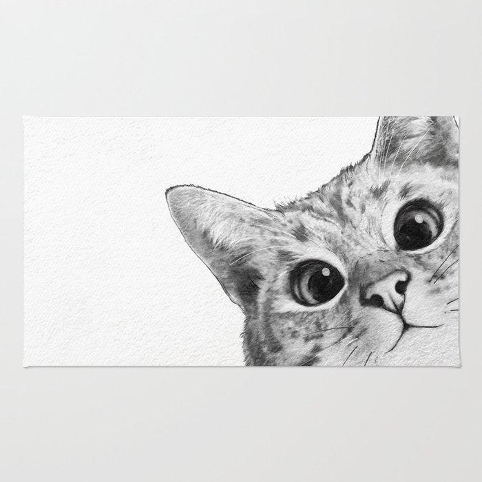 Sneaky Cat Rug By Lauragraves