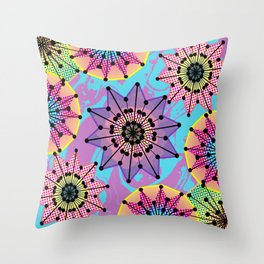 Vibrant Abstract Floral Pattern Throw Pillow