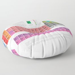 The Periodic Table of Elements Floor Pillow