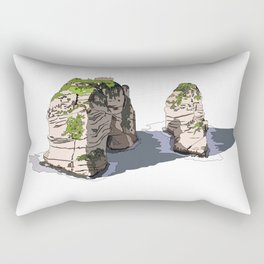 Pigeon Rocks, Lebanon Rectangular Pillow