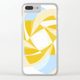 Pastel Whirly Design Clear iPhone Case