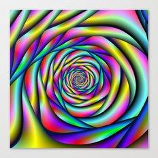 Rainbow Spiral Alternative color Canvas Print
