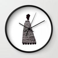 train Wall Clocks featuring TRAIN by hakstbl