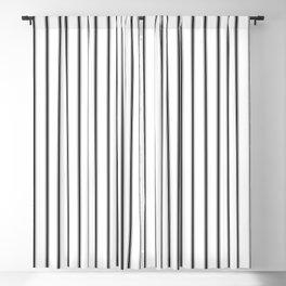 Schoolhouse ticking stripe Blackout Curtain