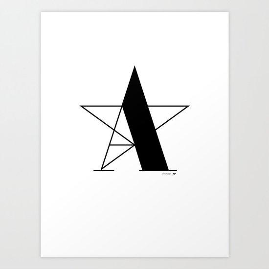 A-star Art Print