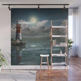Lighthouse Under Back Light Wall Mural