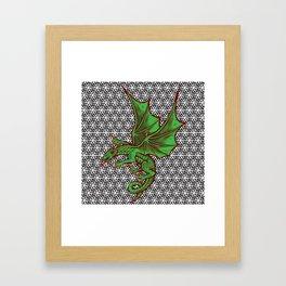 DRAGON MAZE Framed Art Print
