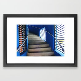 Blue Stairs Framed Art Print