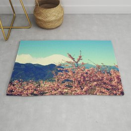 Mountains & Flowers Landscape Rug