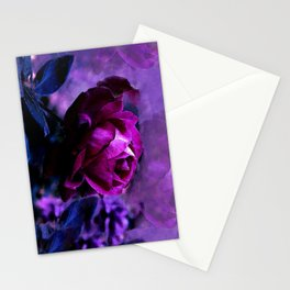 Purple Rose Garden Stationery Cards