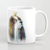 queen Mugs featuring queen by tatiana-teni