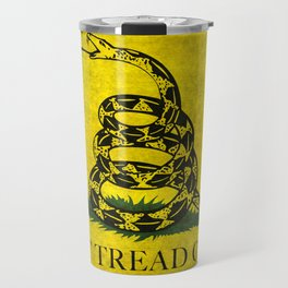 Gadsden Don't Tread On Me Flag - Worn Grungy Travel Mug