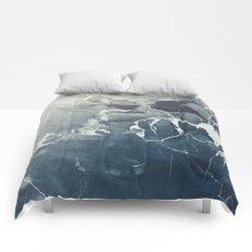 Ultramarine Marble Comforters