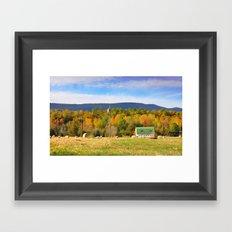 Barn in Field, Mt. Jackson, VA Framed Art Print