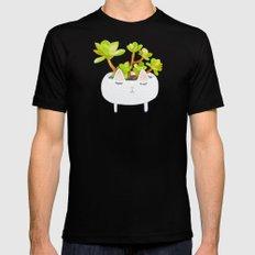 Kawaii succulents Mens Fitted Tee Black MEDIUM