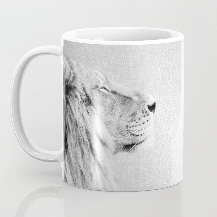 Lion Portrait Black White Coffee Mug By Galdesign Society6