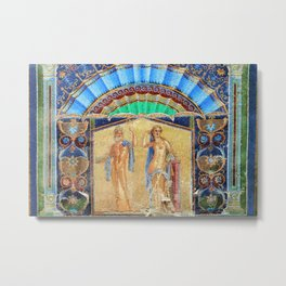 House of Neptune & Amphitrite Mosaic Tesserae Tile Depiction, Herculaneum, Italy Metal Print