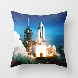 Space Shuttle Launch Throw Pillow