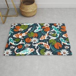 Koi Pond - Orange Rug
