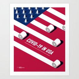C0VID-19 IN USA Art Print