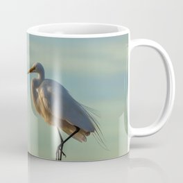 Portrait of a Snow Egret Coffee Mug