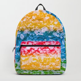 Neon Rainbow Sour Gummy Stripes Candy Pattern Backpack