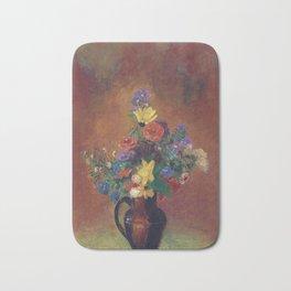 Odilon Redon - Flowers Bath Mat