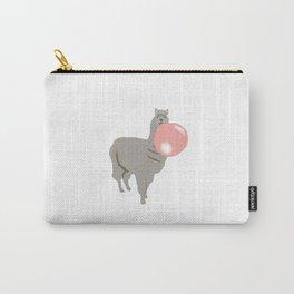 Bubble Gum Llama Blowing Bubble Carry-All Pouch