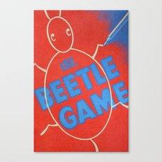 Vintage Beetle Game Canvas Print