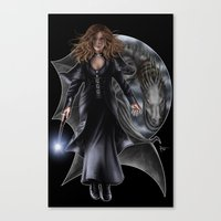 hermione Canvas Prints featuring Hermione by Flocco