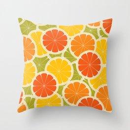 Orange, lemon and grapefruit Throw Pillow