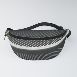 Elegant silver pigeon feather texture Fanny Pack