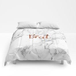 Rose gold marble - brat Comforters