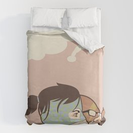 We Could Be Heroes Duvet Cover
