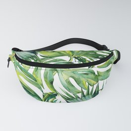 Watercolour Palm Leaves Fanny Pack