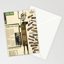 occhio critico un condannato a vintage Poster Stationery Cards