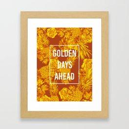 FLOWERS 6 GOLDEN DAYS Framed Art Print